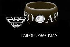 NWT$295 EMPORIO ARMANI LADIES BROWN BANGLE WATCH AR5779
