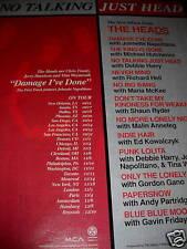 Talking Heads 1996 Poster Ad No Talking - Just Head!