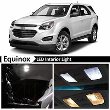 13x White LED Lights Interior Package Kit for 2010-2016 Chevy Equinox + TOOL