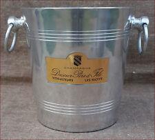 French Aluminum Champagne Ice Bucket Cooler Dascier 1960