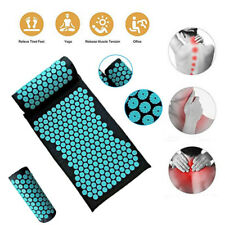 2pcs Body Massager Cushion Mat Shakti Relieve Acupressure Yoga Pad With Pillow