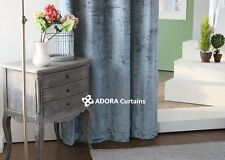 Catherine Velvet Curtain:TOP QUALITY BLOCKOUT(GREENISH GREY)130(W)x230(L)
