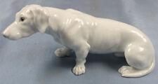 Dackel Porzellanfigur hund hundefigur dachshund porzellan figur Heubach um 1900