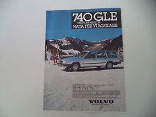 advertising Pubblicità 1985 VOLVO 740 GLE STATION WAGON