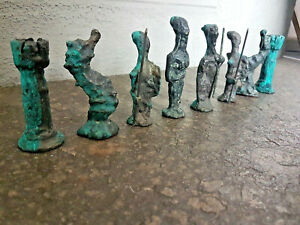 RARE 1960s Giacometti Brutalist Bronze Chess Set Style Schach Schachfigur