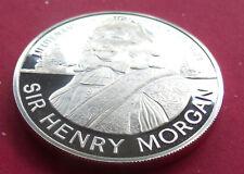 STERLING SILVER GEM 1974 JAMAICA PROOF $10 TEN DOLLARS HENRY MORGAN, w HOLDER.