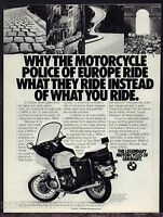 1983 BMW Police Motorcycle Photo AD