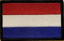 Netherlands Flag Military Army Patch With VELCRO® Brand Fastener Black Border