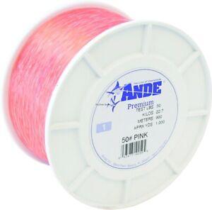 Ande A1-50P Premium Mono Line 1lb Spool 50lb 1000yd Pink