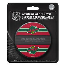 Minnesota Wild Hockey Puck Media Device Holder Home/Office Phone Tablet Desk