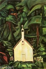 """Emily CARR friend of the Group of Seven """" Indian Church """" Giclee on Canvas"""