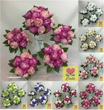 Silk Artificial Peony Wedding Flowers, Petals & Garlands