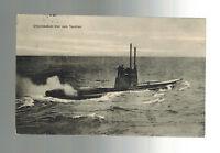 1915 WW 1 Oldenburg Germany Kriegsmarine U Boat At Sea Postcard Cover Tauchen