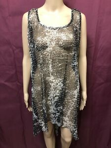 Comma Dress Womens ~ Sz 3 or 14 AU ~ New w/o Tags Sheer Layering w/ Print Design