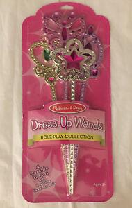 Melissa & Doug Dress-Up Wands for Costume Role Play (4 pcs) Princess Baton