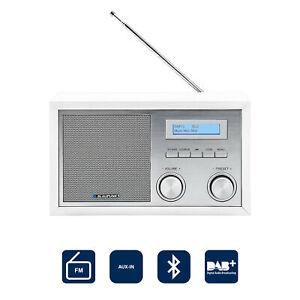 Blaupunkt DAB+ Digital Radio DAB Küchen Retro Radio Bluetooth Aux-In UKW weiß