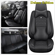 Luxury Leather Full Set 5-Seats Car Seat Cover Cushions For Interior Accessories
