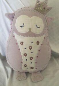 Pottery Barn Kids Decorative Pillow Purple OWL
