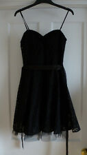 Ladies Size 10 Lovely Black Floral Lace Swing Skater Dress from H&M