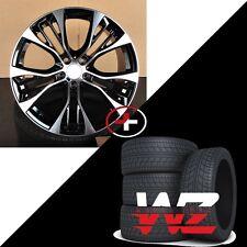 "20"" 599 Style Wheels fits BMW X5 X6 X5M X6M xDrive Black Machined Rims & Tires"