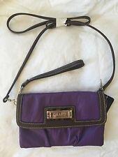 NWT CHAPS Fig Purple Carry All Wristlet Clutch Shoulder Purse