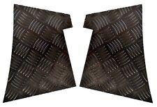 alerón trasero Bordes - 2mm Placa con cuadrados - revestido de polvo negro -