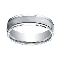 Satin-Finished Band Ring Sz-10 Sterling Silver 925 6mm Comfort-Fit