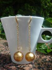 Lange Ohrringe in 585 Gold Filled mit Murano-Glas