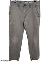 Urban Pipeline Mens Size 32x30 Olive Chino Pants Relaxed Straight 100% Cotton