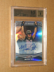 ✨ BGS 9.5 MIESHA TATE AUTO AUTOGRAPH 2012 TOPPS FINEST MOMENTS REFRACTOR UFC MMA