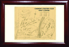 Oakmont Country Club FRAMED Limited Edition Print c 1930s Drawing
