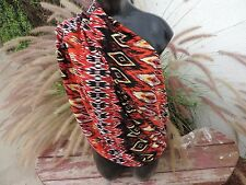 Nursing Cover Scarf  Breastfeeding cover circle infinity Mexican Blanket red yel