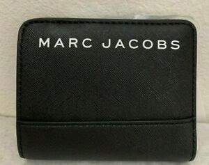 Brand New with Tags Marc Jacobs Branded Mini Wallet $120 Black Original Packagin