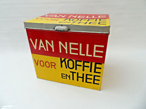 Modernist De Stijl Van Nelle Tin by Jacob Jongert (Dutch, 1883-1942)