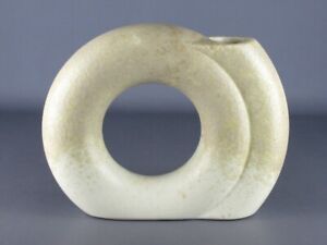 Vintage Vase Modernist Design 1970 Ceramics Italian Shape of Ring