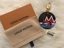 New Auth Louis Vuitton 2018 Christmas Animation Key Chain Bag Charm Ski Bear