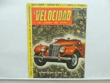 April 1955 Revista Velocidad Magazine Norton 600 Alfa Romeo Cupe 1900 L8948