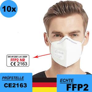 10 x FFP2 Atemschutzmaske Mundschutz 5 lagig CE zertifiziert Maske Mund Nase 💖