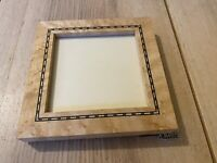 Birdseye Maple Wood Photo Frame Steven B Levine Artisan Artist Dayton, NJ 6 1/2""