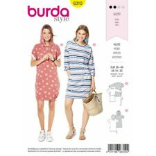 b8a61516b9d7 BURDA STILE LINEA DONNA con coulisse regolabile Abiti Casual Wear Sewing  Pattern 6310