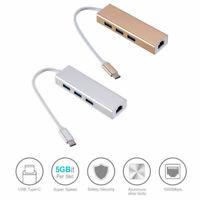 USB--C Type C to USB HUB W/ RJ45 Lan Ethernet Adapters Network For Apple Macbook