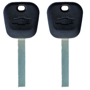 2 Chevrolet Ignition Keys Silverado Tahoe Equinox Suburban Chip Keys B119-PT