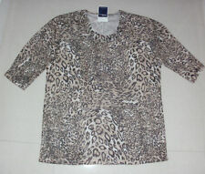 Millers Animal Print 3/4 Sleeve Casual Tops & Blouses for Women