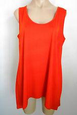 TS Size XS Orange Tangerine Sleeveless Tank Tunic Top Fit Approx Size 18 BNWOT