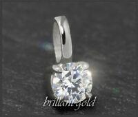 Diamant Damen 585 Gold Anhänger, Brillant 0,27ct, Si2; mit DGI Zertifikat NEU