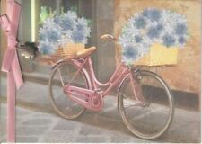 Papyrus Mother's Day Card: Pink Vintage Bicycle with Baskets of Lavender Flowers