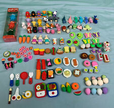 Assorted Iwako Japanese & Other Novelty Erasers Animal Food Fruit Accessories