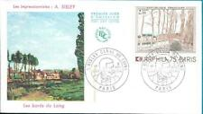 1812+ FDC ENVELOPPE 1er JOUR  ALFRED  SISLEY  LE CANAL DU LOING