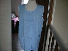 VINTAGE B NEW LADIES SLEEVELESS BLUE CHECK OVERALL/PINNY/TABARD SIZE OS
