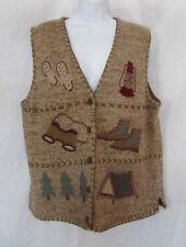 PBJ Sport Women's Brown Camping Sweater Vest Size XL